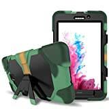 Galaxy Tab A 7.0 Case, Lanstyle Hybrid Rugged Armor Back Cover Case with Kickstand for Samsung Galaxy Tab A 7.0 (SM-T280 / SM-T285) (camo)