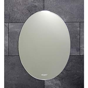 Espejo de baño con forma ovalada biselada cortar 700 x 500 mm