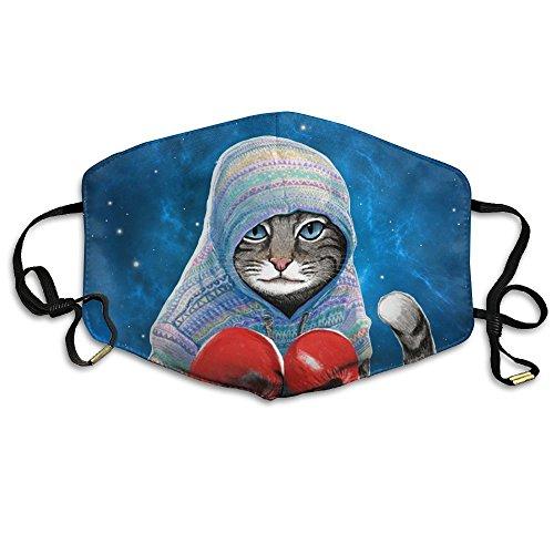 Unisex Winter Warm Mouth Anti-Dust Flu Face Mask Boxing Cat