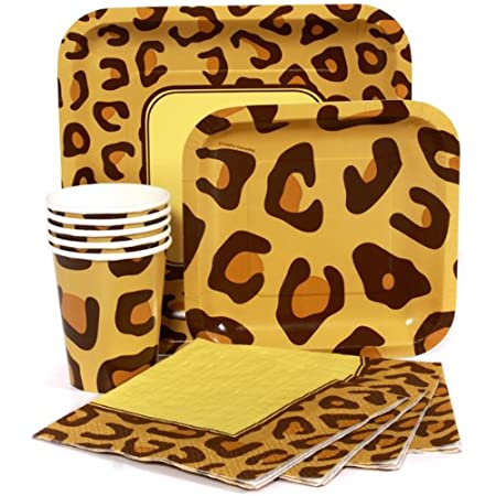 Cheetah/Leopard Print Birthday Party Pack Sets (Paper Plates Napkins Cups)  sc 1 st  Amazon UK & Cheetah/Leopard Print Birthday Party Pack Sets (Paper Plates ...