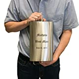 64oz QTY 8 1 2 Gallon Engraved Stainless Steel Pocket Leak Proof HIP Flask for Liquor Portable for Travel and Camping Groomsman Gift WEDDING up to 3 lines