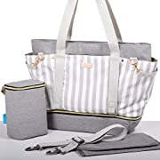 Gadikat Diaper Bag - Taylor Tote, Baby Bottle Tote Bag, Portable Changing Pad Included