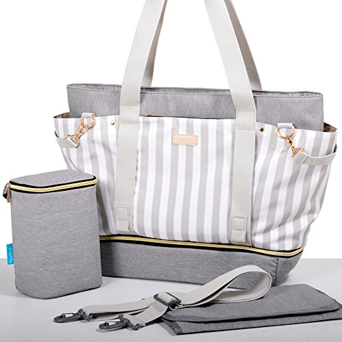 Gadikat Diaper Bag - Taylor Tote, Baby Bottle Tote Bag, Portable Changing Pad Included by Gadikat