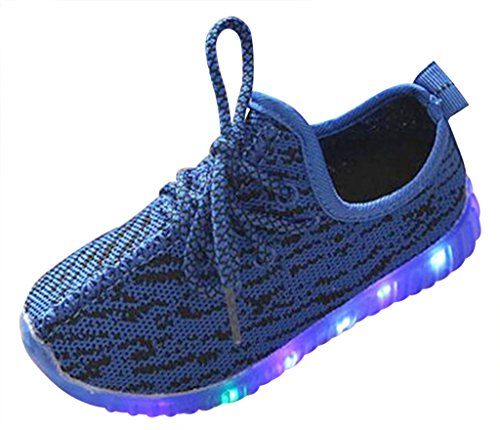 Wotefusi Kids Grils Boys LED Shoes Light up Sneakers Sport Shoes