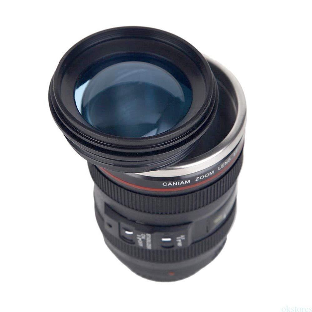 Amazon.com: Taza/taza de café con tapa para lente de cámara ...
