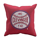 500 LEVEL's Mike Clevinger Soft And Comfortable Throw Pillow For Cleveland Baseball Fans - Mike Clevinger Ball W