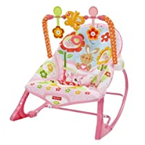 Fisher-Price - Hamaca crece conmigo, conejitos divertidos, color rosa (Mattel Y8184)