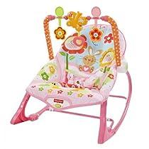 Fisher-Price - Hamaca crece conmigo, conejitos divertidos, color rosa (Mattel Y8184)