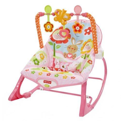 35 opinioni per Mattel- Fisher Price Baby Gear- Y8184- Seggiolino Dondolino del Coniglietto Rosa