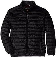 Hawke & Co - Abrigo para sobre ropa,HEN1041Z, Hombres ,  negro (Carbon/Black), Small