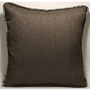 "2 18"" Glitterati Crypton Home Zinc Gray and Silver Floral Designer Throw Pillows and Forms"
