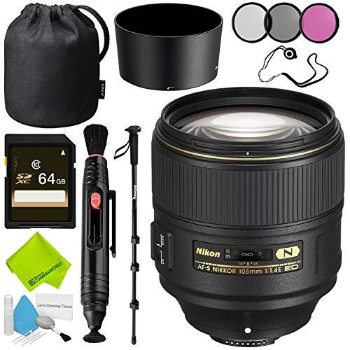 Nikon AF-S NIKKOR 105mm f/1.4E ED Lens Advanced Bundle
