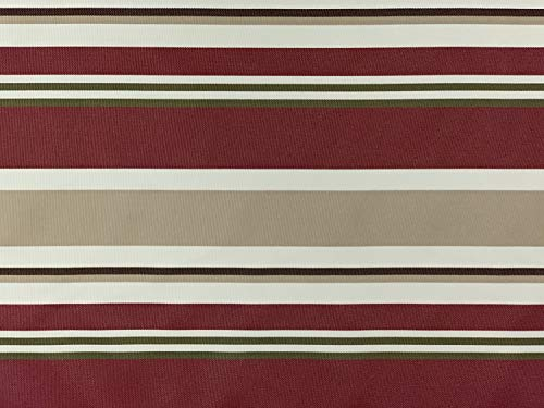 D&D Futon Furniture Outdoor Waterproof Full Size Futon Mattress Cover, Covering Protector, Stripe Burgundy ()