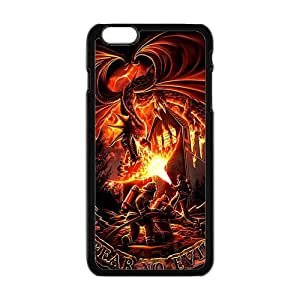 QQQO Firefighter Fear No Evil Dragons Cell Phone Case for Iphone 6 Plus Kimberly Kurzendoerfer