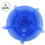 6Pcs Kitchen ReusableSilicone Stretch Seal Lid Preservation Vacuum Food Storage Bowl Cover