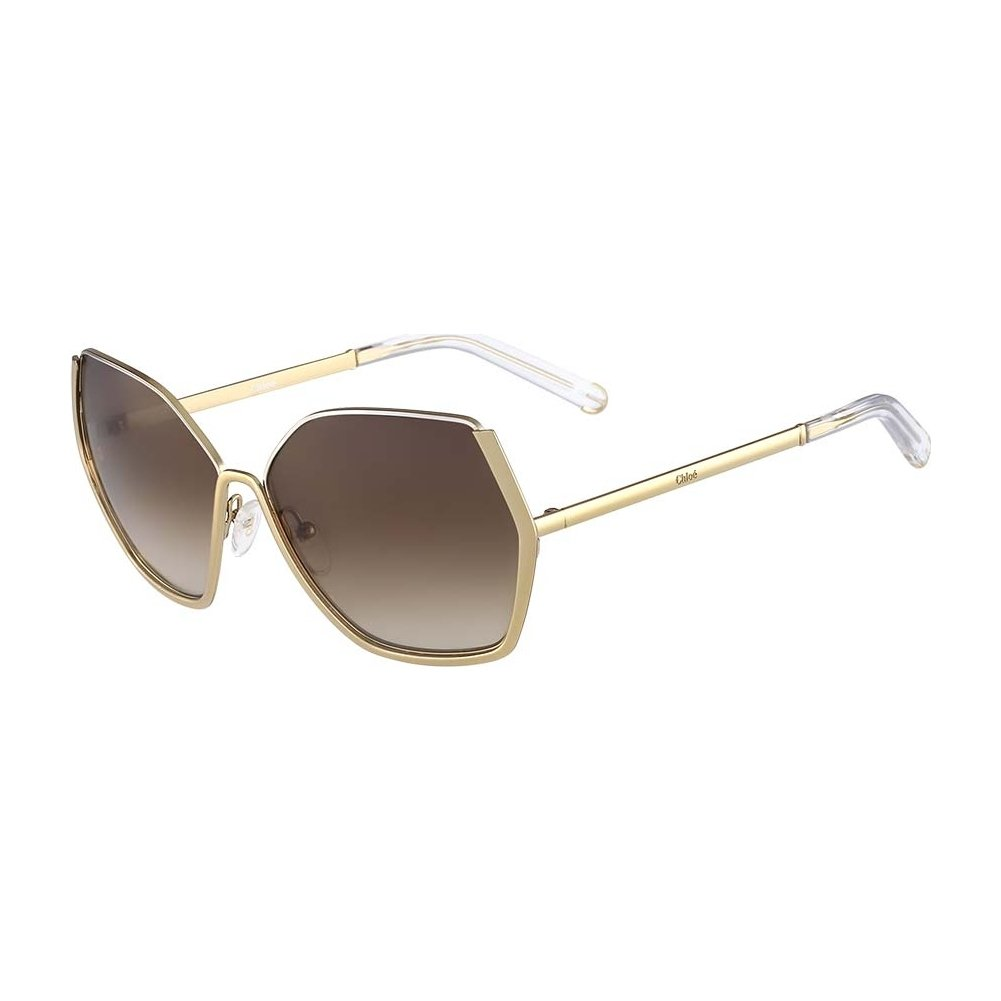 ee7b2ffaed85 Chloe CE115S-748 Gold Silver CE115S Sunglasses  Amazon.ca  Clothing    Accessories