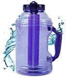 72 oz water jug - Cool Gear 75 oz EZ Freeze Water Bottle w/ Handle Straw and Ice Pack (Purple)