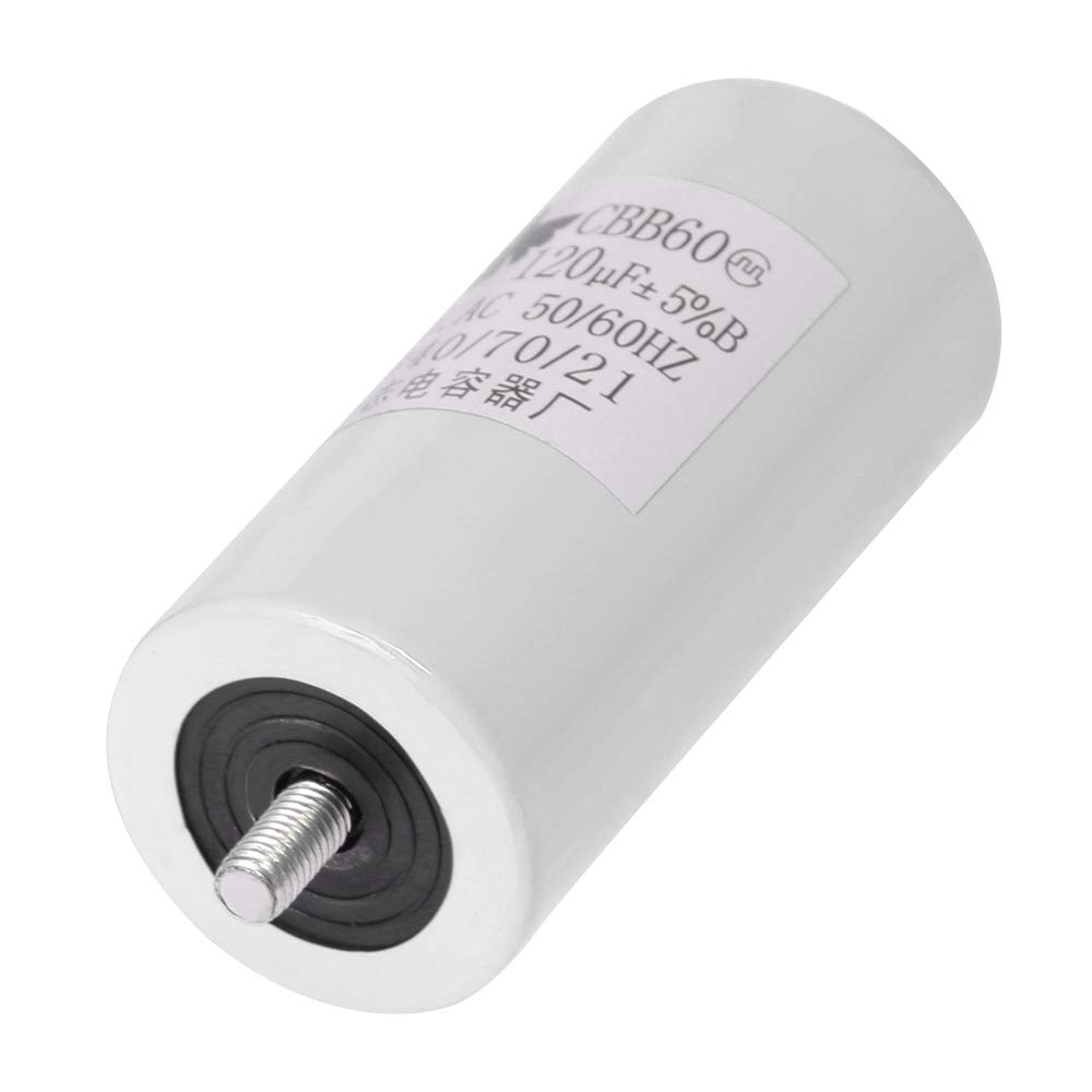 CBB60 Run Capacitor Motor Run Start Capacitor Frequency 50//60Hz 450VAC 450V AC 120uF 120 MFD UL Listed W//Fixing Stud Blue