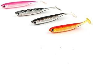 JOHNCOO Fishing Lure 3D Eyes Shad Lure Soft Bait Soft Silicone Bait Swimbaits Plastic Lure