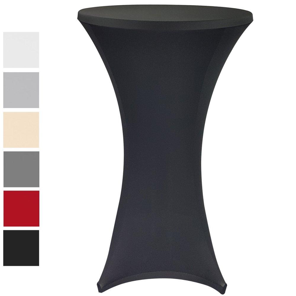 Elastic loose cover premium for bar tables / standing tables by Proheim / Bar tables elastic stretchy table cover - ideal for celebrations, weddings etc. , Colour:Ecru, Size:Ø 60-65 cm