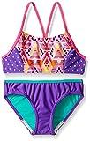 Speedo Big Girls Diamond Geo Splice Two Piece Swimsuit, Size 8, Pink