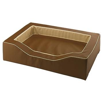 Ferplast Majestic 110 perro cama eco-synthetic piel y tela de alta tecnología, 108 x 75 x 25 cm, marrón: Amazon.es: Productos para mascotas