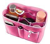 large bag insert - ETTP Felt Fabric Purse Handbag Organizer Bag - MultiPocket Insert Bag, Large, Pink