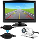 Cheap ZSMJ Wireless Backup Camera with 5 inch HD Monitor Kit Car Rear View Camera System Wide Angel Night Vision and Waterproof