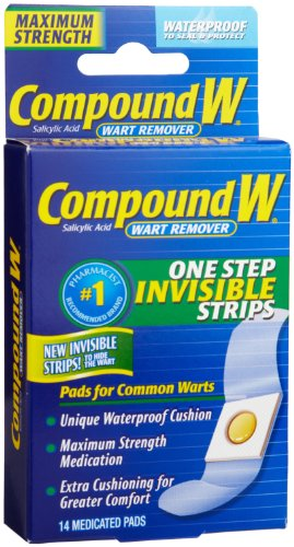 Compound W Wart Remover, One Step Invisible Strips, 14 ct by Compound W