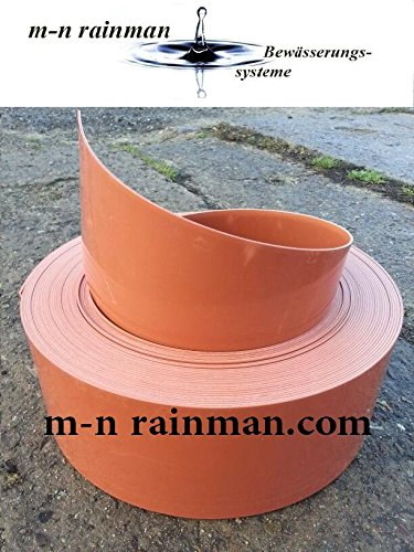 Rasenkante / Beeteinfassung terracotta - Stärke: 2 mm - Höhe: 15 cm (50 Meter 15 cm Höhe/3.19€ pro Meter)