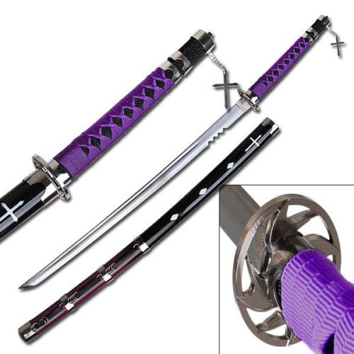 "41"" Japanese Samurai Fantasy Anime Manga Katana Sword w/ Purple Handle Xmas Gift"