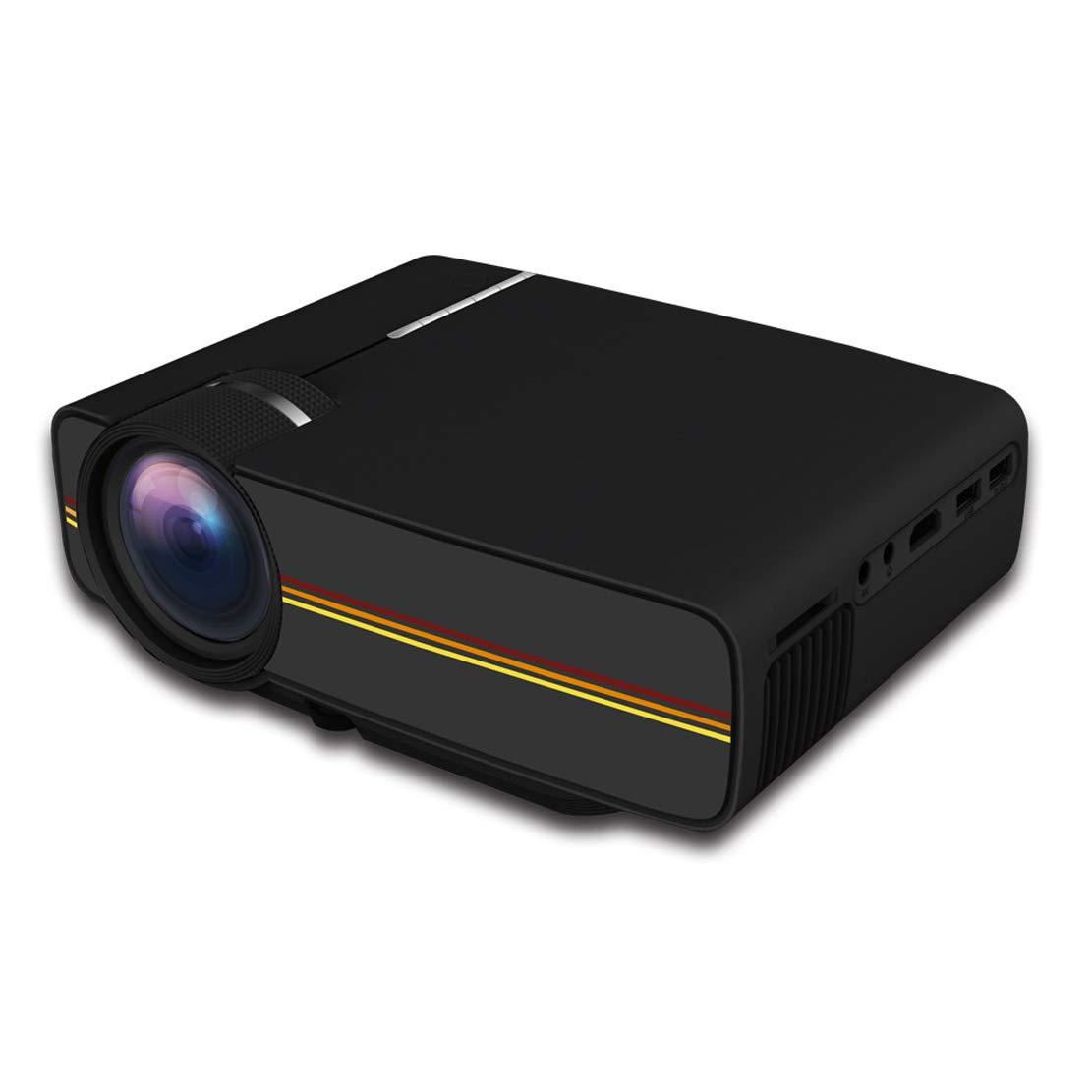 プロジェクター ホームシアターあなた自身のスピーカーを持って来なさいフルフォーマットのビデオ1080Pをサポートしなさいあらゆるタイプの外部装置と互換性がある簡単なシステムインターフェイス B07RQM3DSF Black