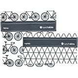 Lunchskins Reusable 2-Pack Velcro Bag Set, Charcoal Bicycle (1 Sandwich + 1 Snack)