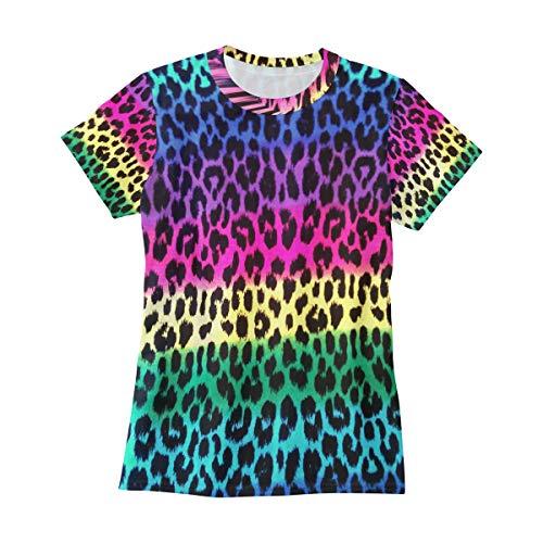 Bei Tang Neon Rainbow Animal Print T Shirts