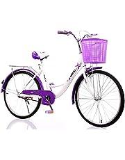MACCE 1 Speed Ladies Cruiser Bike 26 Inch, Purple