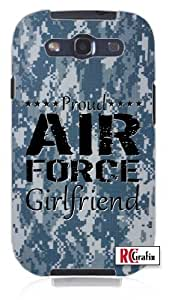 Air Force Girlfriend Digital Blue Camo Military Camouflage Unique Quality Soft Rubber PC Case for Samsung Galaxy S4 I9500 - White Case