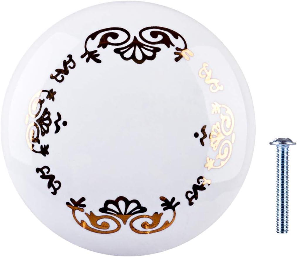 Poxl Keramik T/ürgriffe Vintage Knauf Griffe Blume M/öbelkn/äufe aus Keramik Pastoralen Stil f/ür T/üren Schr/änke Schubladen