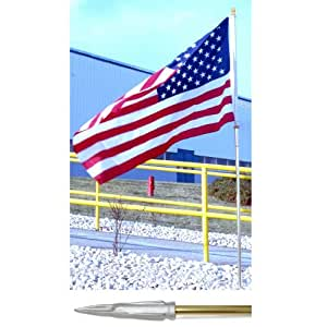 Online Stores, Inc. Message Display Flagpole Kit (no Flag) 8 Ft Brass