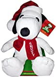 """Peanuts Musical 12"""" Snoopy Christmas Plush - Plays """"Lucy and Linus"""" Song"""