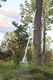 c2f garden lawn leaf rake 61 inch adjustable and telescopic metal rake tool for yard aluminum handle