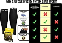 Physix Gear Sport Compression Calf Sleeves for Men & Women (20-30mmhg) - Best Footless Compression Socks for Shin Splints, Running, Leg Pain, Nurses & Maternity Pregnancy - Increase Blood Circulation from Physix Gear Sport