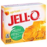 Jell-O Apricot Gelatin Mix 3 Ounce Box (Pack of 6)