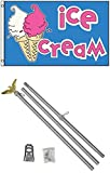 3×5 ICE CREAM Cones Business Flag w/ 6′ Aluminum Pole Kit Review