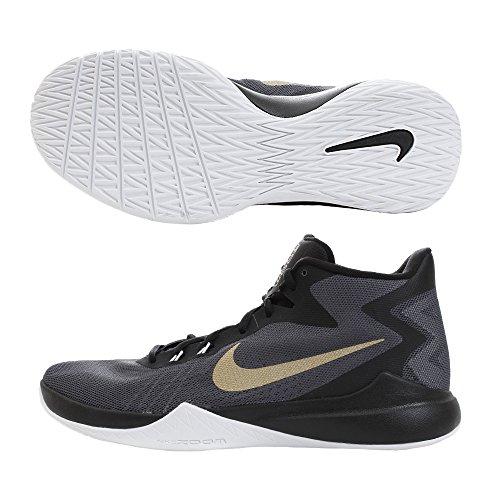 Nike Mens Zoom Bewijs Basketbalschoenen Antraciet / Metallic Goud / Zwart
