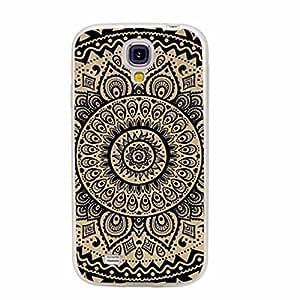 Generic geometric black mandala yellow wood grain Aztec Animal Face Hard Case Cover For Samsung Galaxy S4 i9500