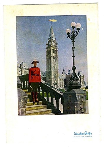 The Mountaineer Menu Canadian Pacific Soo Line Railway 1957 The Mounted Cover