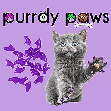 Paquete de 100 tapas de uñas suaves para garras de gatos, color morado: Amazon.es: Productos para mascotas