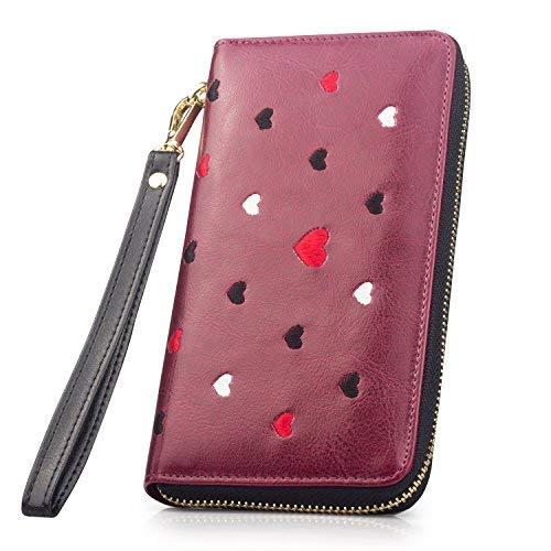 51867a7458 Long Women Leather Wallet Purse Credit Card Holder Phone Clutch Bag Handbag