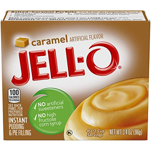Jell-O Instant Caramel Pudding & Pie Filling, 3.4 oz Box