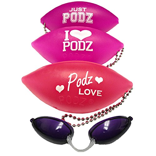 SOFT PODZ GOGGLES - Tanning Bed Keychain Eyewear - Random PINK Colors Picked